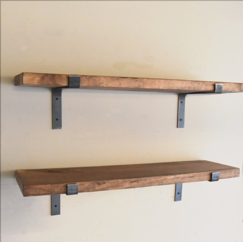 Farmhouse Rustic Fixer Upper Floating Shelf L Bracket image 0