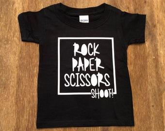 Rock Paper Scissors Shoot boy's shirt