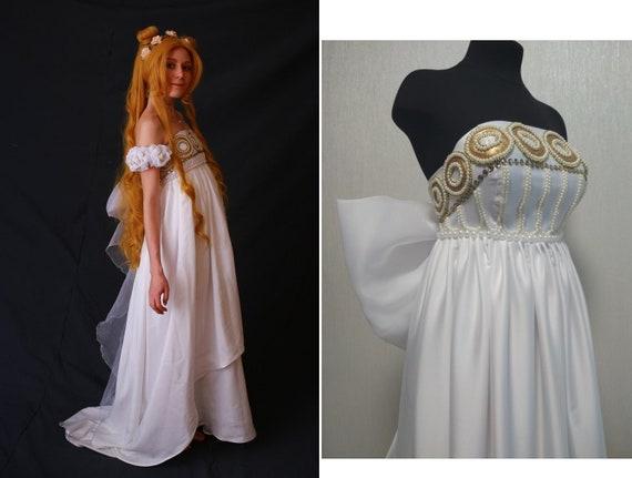 Sailor Moon Princess Serenity Tsukino Usagi Anime Cosplay Costume Party Dress 9