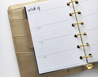 Pocket Size Planner Inserts - Weekly
