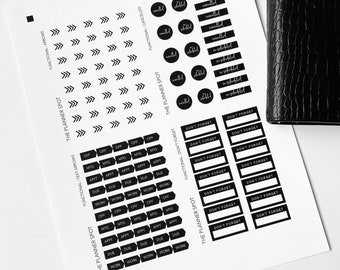PRINTABLE Planner Stickers - Functional 1