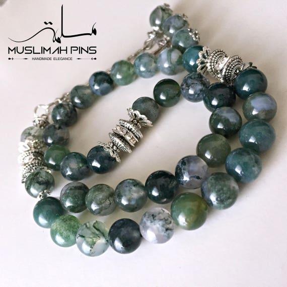 99 perles 6 mm Prière Perles Tasbih Allah Rosaire Sculpté Islamique Musulman Bracelet