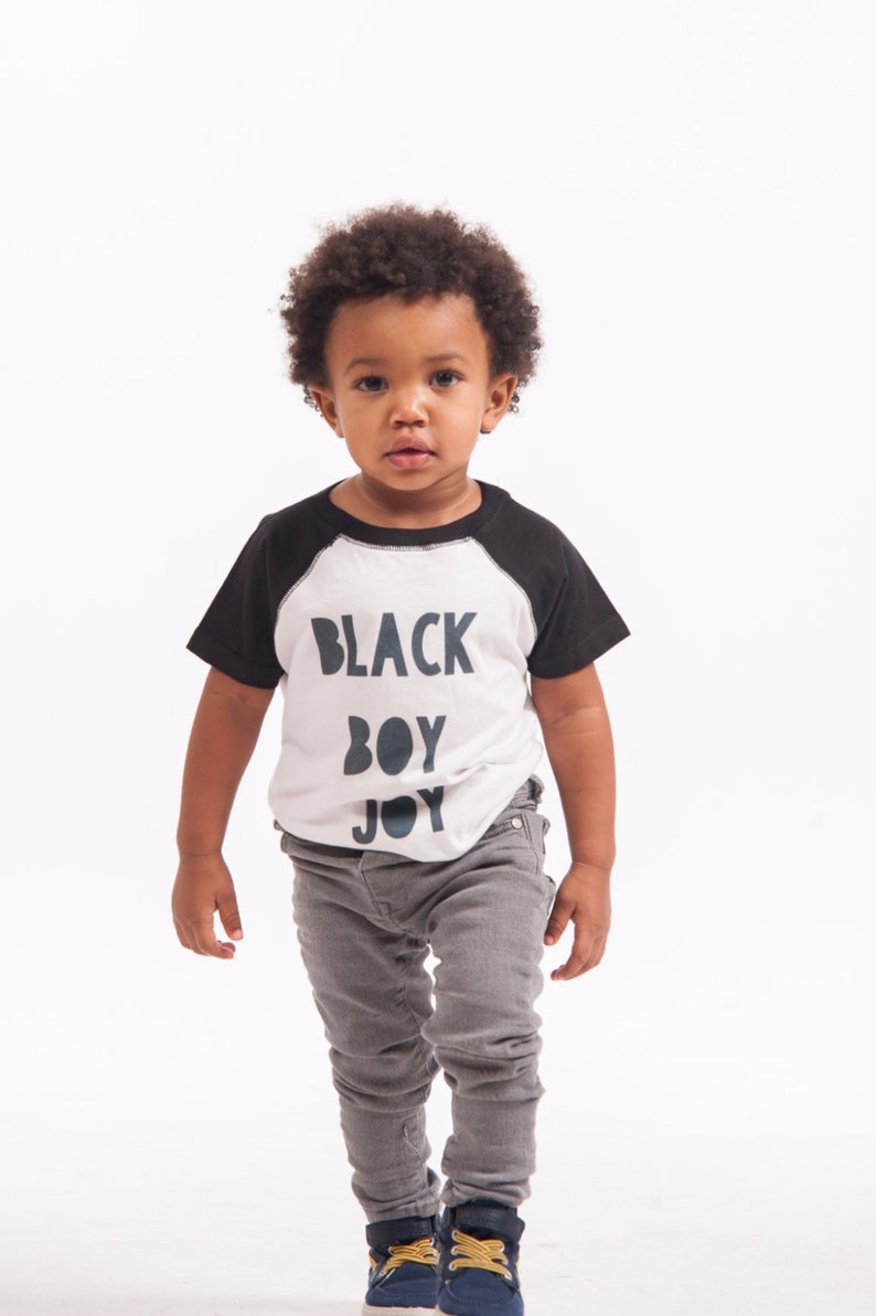 446301287 Black Boy Joy Raglan & Tee Infants Toddler Big Kids | Etsy