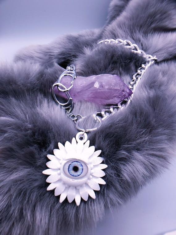 evil eye daisy convertible pocket chain or choker