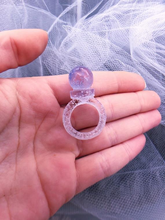 tiny amethyst orb ring