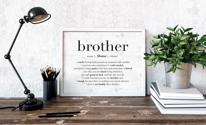 Personalized Brother Birthday Gift Idea Custom