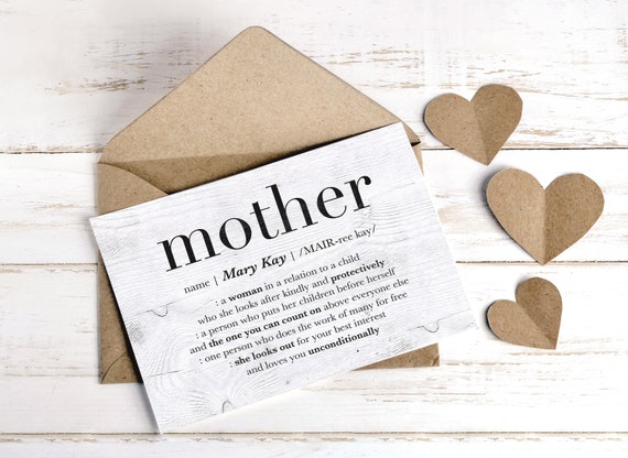 Custom Mothers Day Card Personalized Mom Greeting Gift