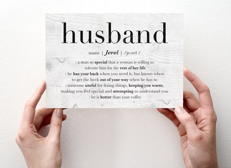 Husband Birthday Card Personalized Valentine