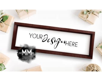 Blank Box Frame, Frame Mockup, Styled Stock Photography, Blank Frame Stock Photo, 8x24 Frame Mockup, Add Your Design, Digital Download