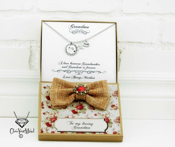 Christmas Gift Grandma Personalized Grandmother Birthday From Grandson Granddaughter Necklace