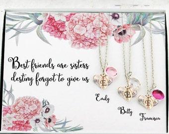 3 best friend necklace Best friend Birthday Gift for Best Friend  Personalized best friend Best friend necklaces for 3 Best friend birthday