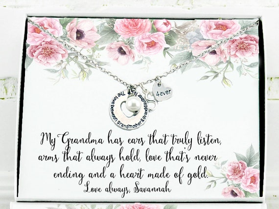 Chistmas Gift Grandma Personalized Birthday