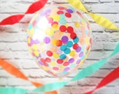 Fiesta Confetti Balloons 3 Pack, 5 Pack or Singles Pre-filled Confetti Fiesta Tribal Baby Shower, Cinco De Mayo, B-days, Weddings, Party