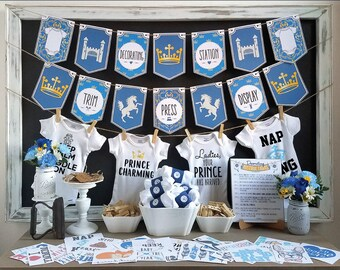 Blue Elephant Onesie Decorating Kit Baby Shower Games Diy Etsy