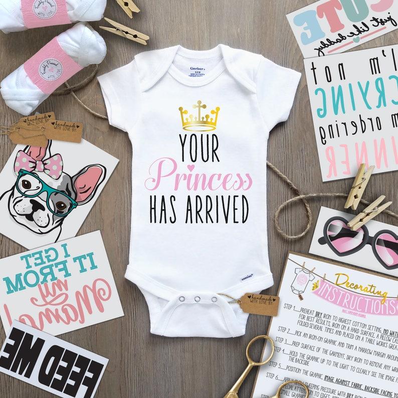 2c8e7603c Little Princess Onesie Decorating Kit/ 30 Transfers Onesies/ | Etsy
