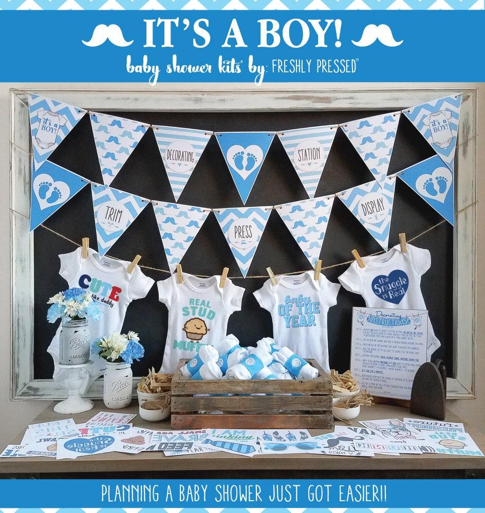 It's A Boy Onesie Decorating Kit/ Baby Shower Games/ DIY ...