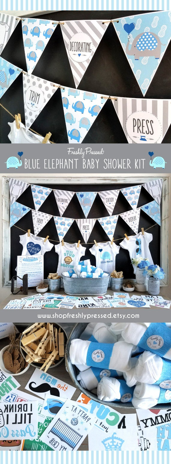 DIY Decorating Kit Baby Shower Games Infant Station Kit for Baby Girl and Boy Decorating Station Iron On Transfers Gender Neutral Baby