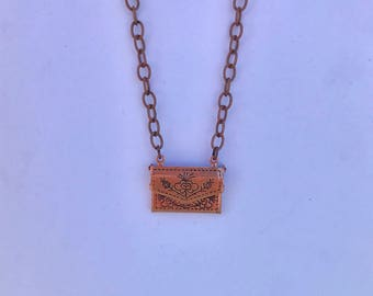 Copper Envelope Necklace