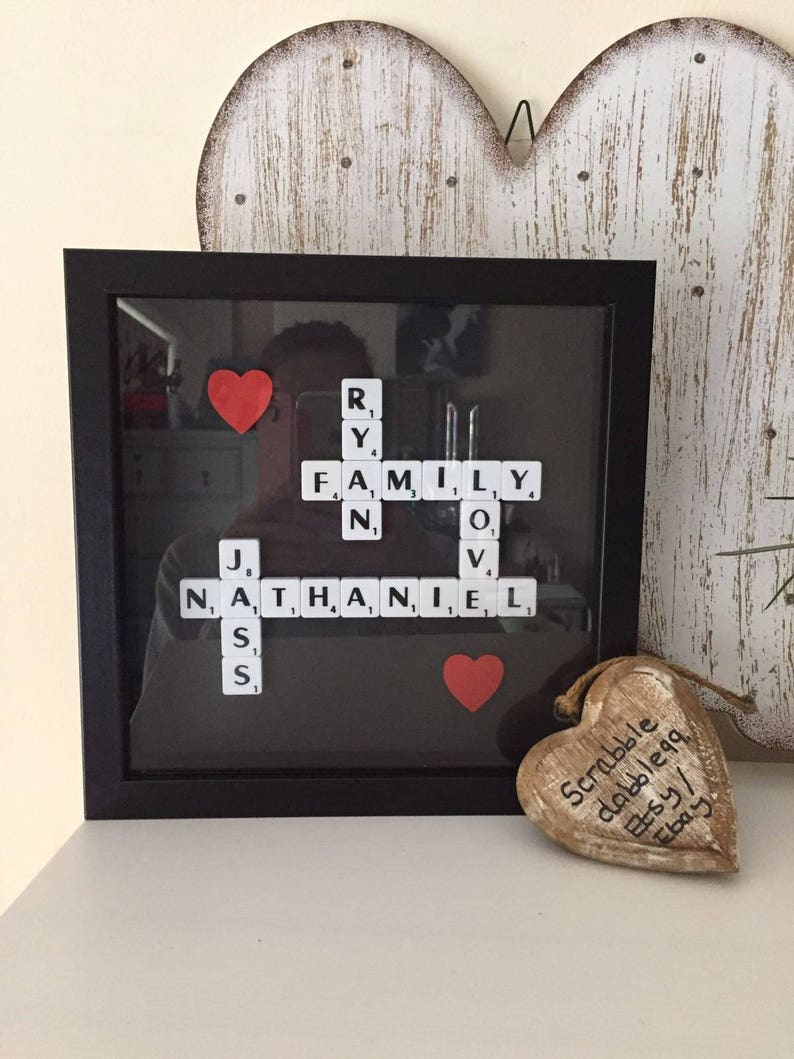 7x5/'/'! Personalised Photo Frame Cousins Scrabble Tile Gift