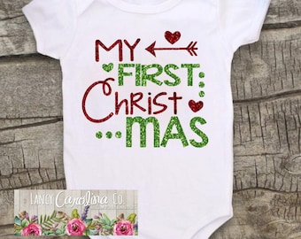 First Christmas Outfit Girl, First Christmas Outfit, My First Christmas Onesie®, 1st Christmas Outfit, First Christmas Onesie®