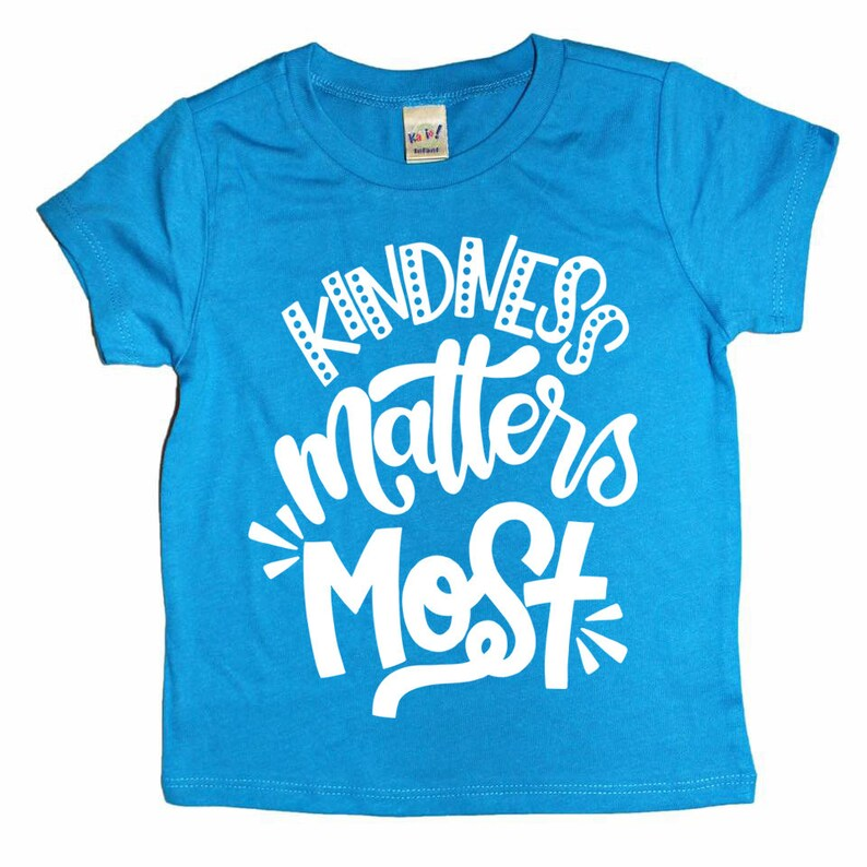 b0c44489d Kindness Shirt Kids Tshirt Positive Message Gender | Etsy