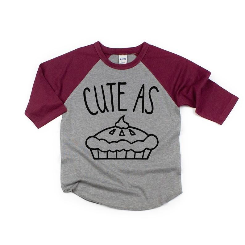 9d043d4e Kids Thanksgiving shirt Kids Pie shirt Cute as Pie Funny | Etsy