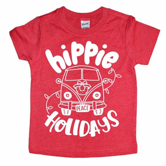 Les Enfants Noel Chemise Chemise Drole De Noel Vacances Etsy