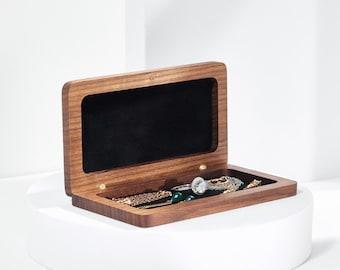 Jewellery Box, Wedding Gift, Woodsbury, Anniversary Gift, Wooden Box, Ring Box, Valentine's Gift, Handmade box, Walnut Timber, jewelry box