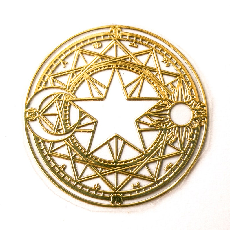 Pack of 50 Gold 2.5 cm Diameter Flower of Life Stickers Labels