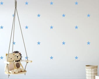 Star Wall Decals- Star Wall Stickers, Nursery Wall Decal, Kids Room