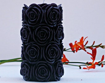 Gothic Decor Home Goth Candle Black Candles Pillar Unique Scented Handmade