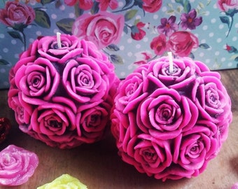 Scented Candles, Candles Gift, Candles Scented, Scented Gifts, Candles Handmade, Pillar Candles, Pink Candles, Flower Candles,