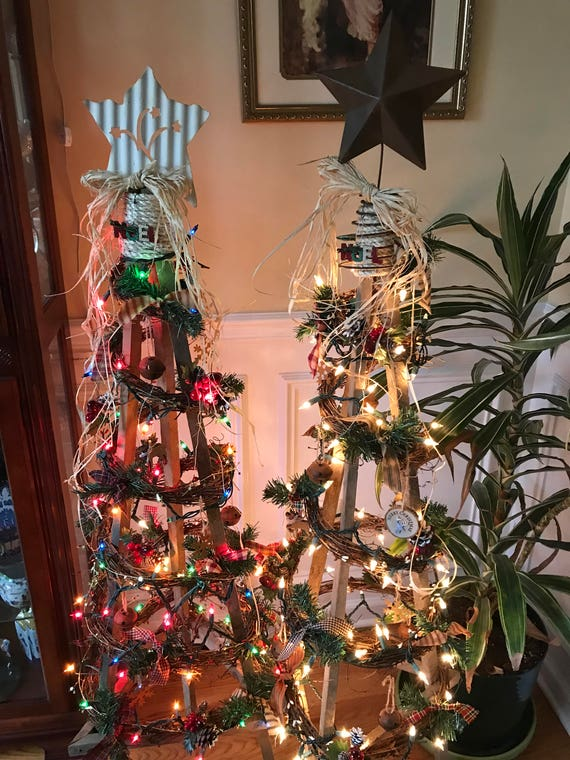 Tobacco Stick Christmas Tree Etsy