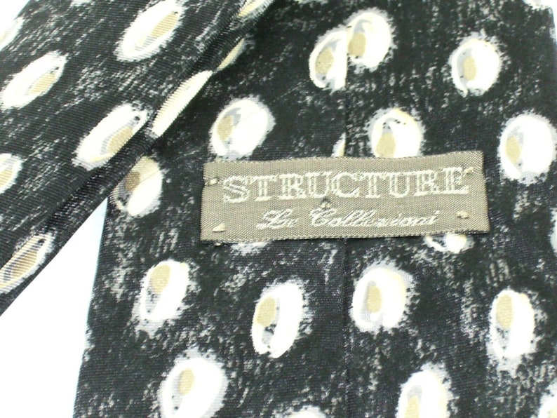 Mens Silk Neck Tie by Structure Featuring Abstract Design Free Shipping  Within North America