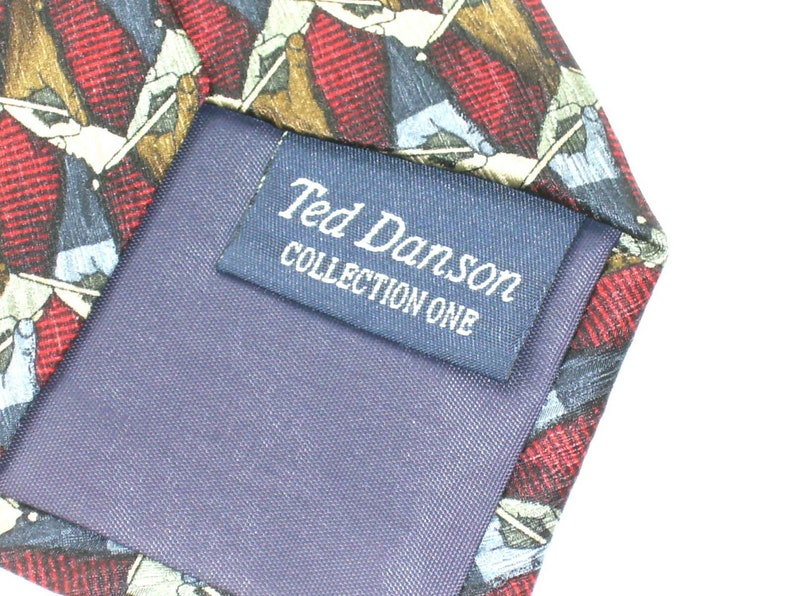 Mens Silk Neck Tie By Christopher Reeve Collection Ted Danson Necktie cira 1990/'s