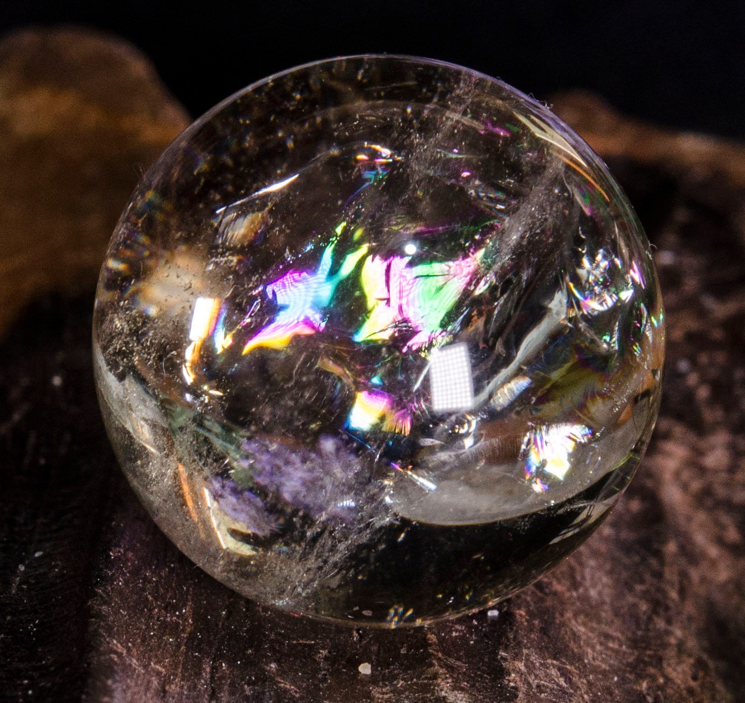 NATURAL CLEAR QUARTZ CRYSTAL SPHERE BALL FengShui Reiki HEALING GEMSTONE 40mm