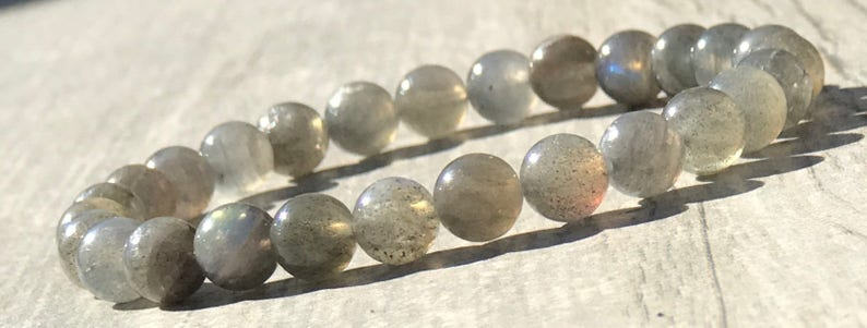 Women/'s Bracelets Stretch Men/'s Bracelets Yoga Bracelet Stacking Bracelets Gifts 6mm Grade AAA Labradorite Gemstone Beaded Bracelet