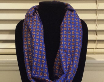 Vibrant Blue Single Loop Infinity Scarf