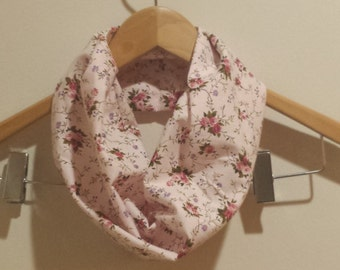 Flowers on Pale Pink Infinity Scarf