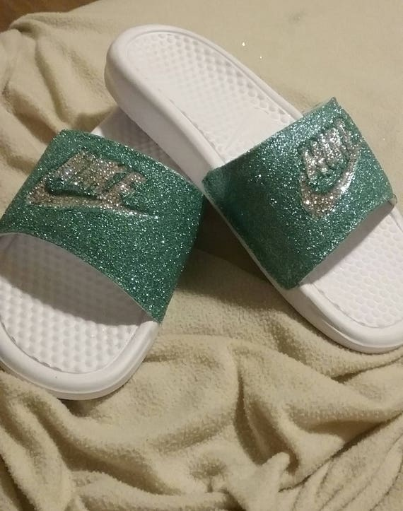 Glitter Nike Slide women  cf5c4cd52