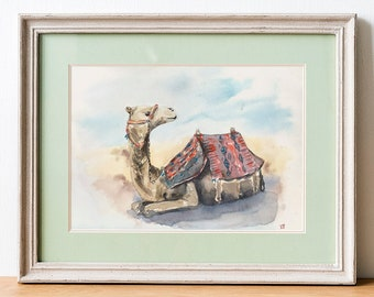 Camel in Egypt - Watercolor Original Painting