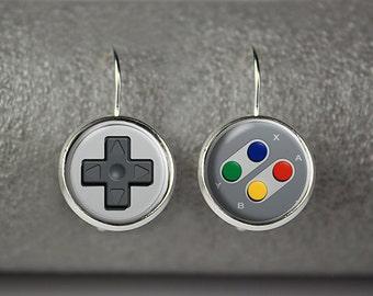Game controller earrings, Joystick earrings, Game controller jewelry