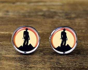Indiana Jones cufflinks, Indiana cufflinks, Indiana Jones jewelry