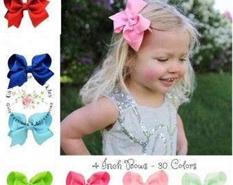 hair bows for children children hair bows Set of 25 pieces 4 boutique hair bows bows hair bows for sale 25 colors to pick boutique bows