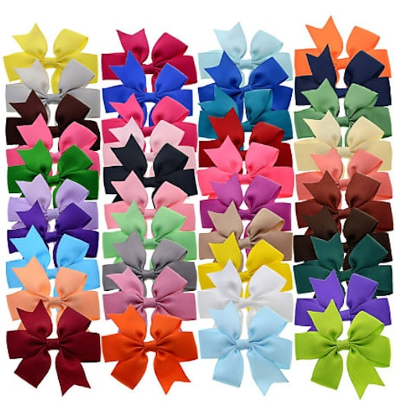 SET OF 20 FLOWER CLIPS BARRETTE FRENCH HAIR CLIP FOR BOWS 1 1//2 INCHES LONG