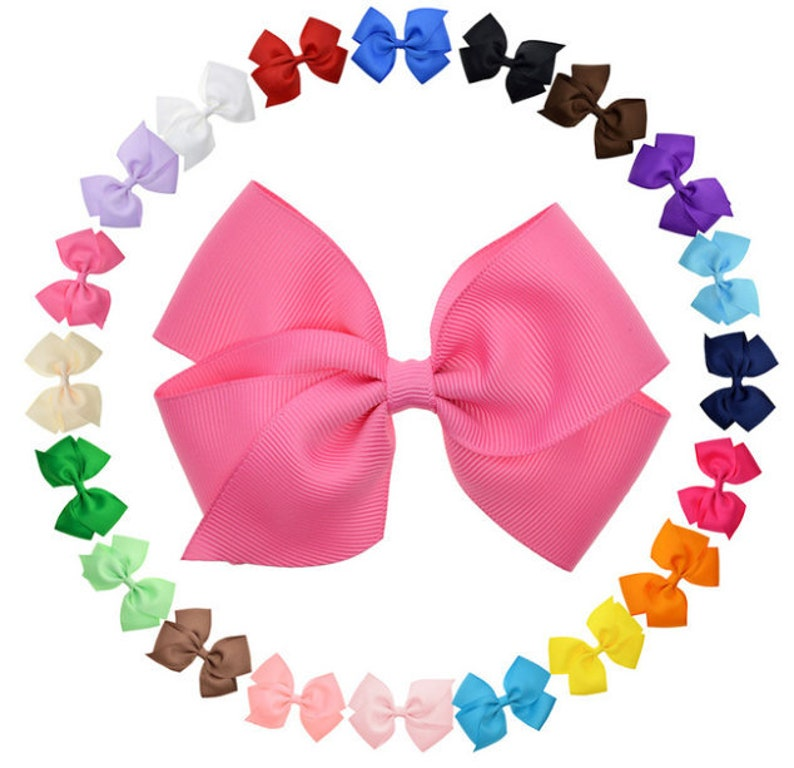 Kleidung, Schuhe & Accessoires 20 Pcs 4 Girls Grosgrain Ribbon Hair Clips  Double Color hair bows For Girls