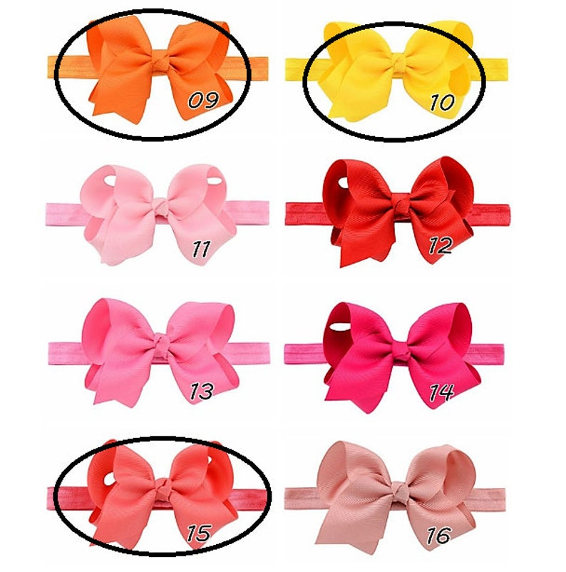 Baby/'s 4  Bow Headbands Set of 11 Bows *** Special Price of 18.00 Dollars /& Free Shipping,