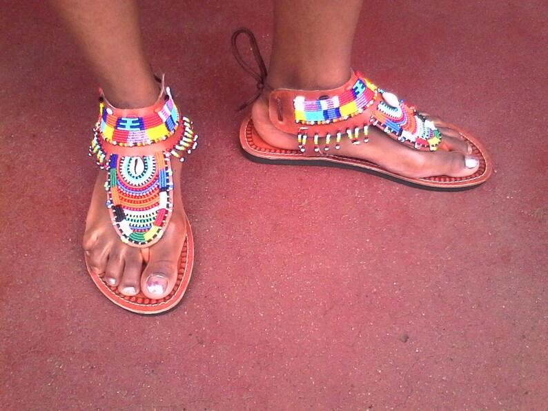 Ngiri maasai gladiator sandals   maasai sandals   leather