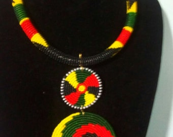 maasai necklace/ beaded necklace / colorful necklace