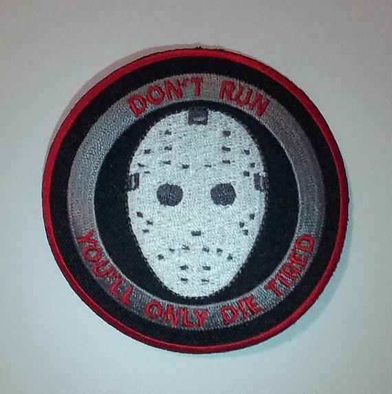 Biker Horror Punk Morale Vest Halloween Prop LUCKY ZOMBIE FOOT Patch